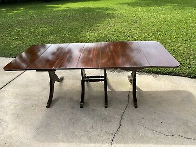 Most Up To Date 4 Pedestal 3 Leaf Drop Leaf Duncan Phyfe Dining Table Within 47'' Pedestal Dining Tables (View 21 of 25)