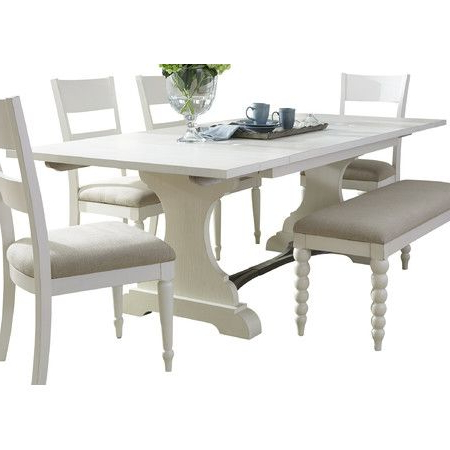 Most Up To Date Alexxia 38'' Trestle Dining Tables For Cameron Dining Table In Dove Gray At Joss And Main (View 12 of 25)
