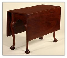 Most Up To Date Antique Queen Anne Figured Maple Drop Leaf Table With With (View 5 of 25)