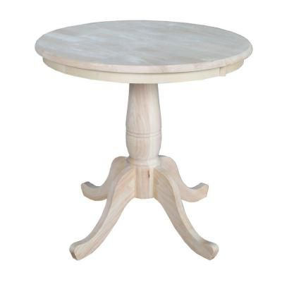 Most Up To Date Bekasi 63'' Dining Tables Pertaining To International Concepts Unfinished Pedestal Dining Table K (View 12 of 25)