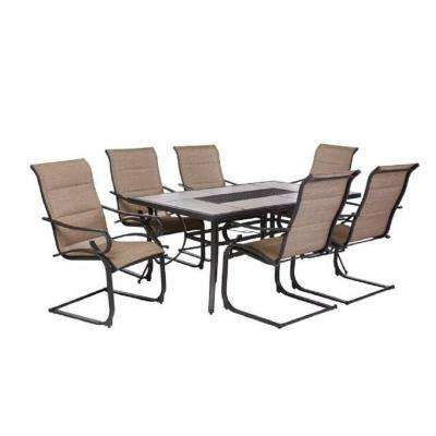 Most Up To Date Crestridge 7 Piece Padded Sling Outdoor Dining Set In For Desiree (View 15 of 25)