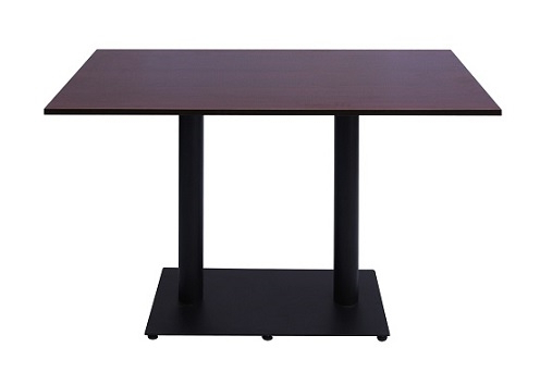 """Most Up To Date Elite Rectangle 48"""" L X 24"""" W Tables Inside Laminate Cafe Table Rectangular Tops With Powder Coated (View 4 of 25)"""