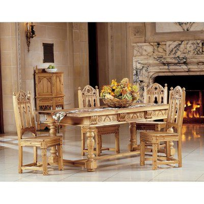 Most Up To Date Febe Pine Solid Wood Dining Tables With Regard To Design Toscano Sudbury Solid Pine Dining Table – Af (View 23 of 25)