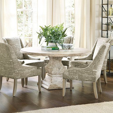 """Most Up To Date Kirt Pedestal Dining Tables With Andrews Pedestal Dining Table – 48"""" Ballard Designs (View 16 of 25)"""