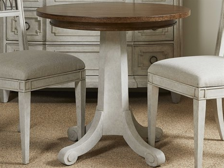 """Most Up To Date Murphey Rectangle 112"""" L X 40"""" W Tables Pertaining To Hekman Urban Retreat Khaki (light) Round Dining Table (View 13 of 25)"""