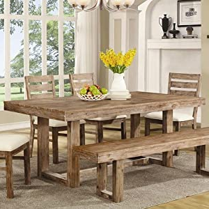Most Up To Date Yaqub 39'' Dining Tables Regarding Amazon – Coaster 105541 Elmwood Rustic (View 11 of 25)