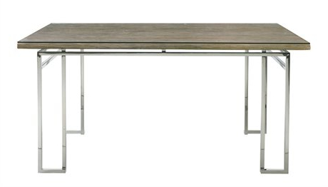 """Murphey Rectangle 112"""" L X 40"""" W Tables Intended For Widely Used Hekman Urban Retreat Khaki (light) Round Dining Table (View 17 of 25)"""