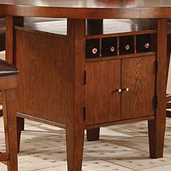 Nakano Counter Height Pedestal Dining Tables For Favorite Round Counter Height Dining Table With Wine Storage Base (View 25 of 25)