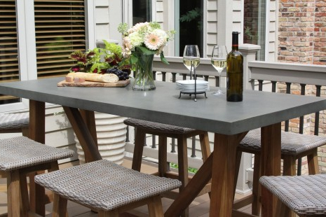 Nakano Counter Height Pedestal Dining Tables In Newest Composite Counter Height Dining Table With Teak Base (View 20 of 25)