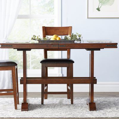 Nashoba Counter Height Extendable Dining Table Pertaining To Well Liked Counter Height Extendable Dining Tables (View 25 of 25)