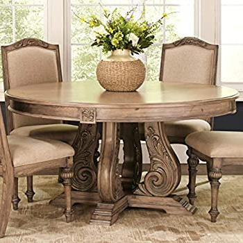 """Nashville 40'' Pedestal Dining Tables For Most Recent Amazon – Hooker Furniture Solana Round 60"""" Glass Top (View 8 of 25)"""