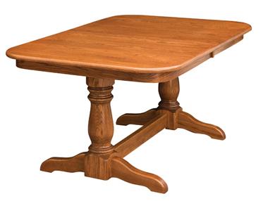 Nashville 40'' Pedestal Dining Tables Intended For Widely Used Dining Table Double Pedestal (View 3 of 25)