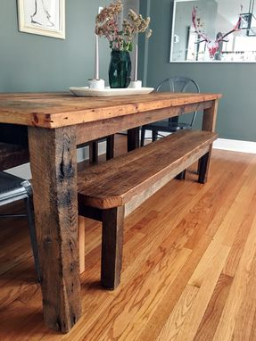 Nashville 40'' Pedestal Dining Tables Throughout Recent Buy Custom Reclaimed Wood Farmhouse Dining Table (View 14 of 25)