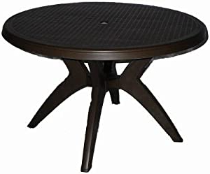 Nazan 46'' Dining Tables Intended For 2019 Amazon : Grosfillex Us522037 Cadix Round Table, (View 5 of 25)