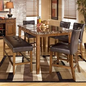 Nebraska Furniture Mart – Ashley 6 Piece Counter Height With Latest Desloge Counter Height Trestle Dining Tables (View 11 of 25)