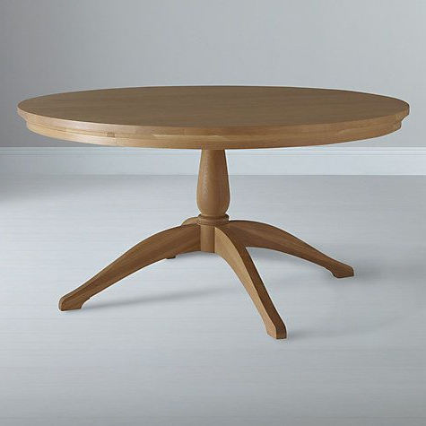 Neptune Henley 150cm Round Pedestal Dining Table, Oak With Regard To Widely Used 47'' Pedestal Dining Tables (View 14 of 25)