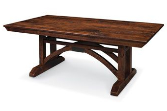 Nerida Trestle Dining Tables Pertaining To Trendy Image Of A B And O Trestle Bridge Trestle Table (train (View 4 of 25)