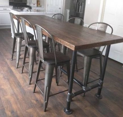 Newest 38 Ideas Kitchen Island Rustic Metal For 2019 #kitchen With Regard To Hetton 38'' Dining Tables (View 6 of 25)