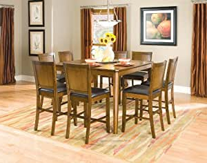 Newest Amazon – Modern Collection Counter Height Dining Table Inside Overstreet Bar Height Dining Tables (View 13 of 25)