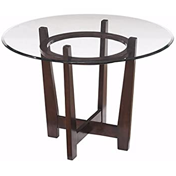 Newest Amazon – See Glass Dining Table – Base Only – Tables Within Steven 55'' Pedestal Dining Tables (View 9 of 25)