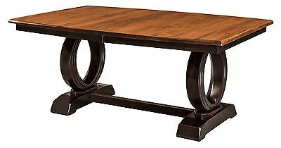 Newest Amish Art Deco Contemporary Trestle Dining Table Rectangle In Kara Trestle Dining Tables (View 18 of 25)