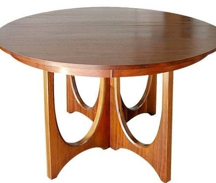 Newest Broyhill Brasilia Pedestal Dining Table (View 17 of 25)