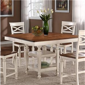 Newest Bushrah Counter Height Pedestal Dining Tables For Holland House 1271 Dining Square Top Counter Height Dining (View 14 of 25)