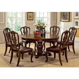 Newest Classic Dining Tables Inside Coronado Cherry Finish Dining Table Set (View 2 of 25)