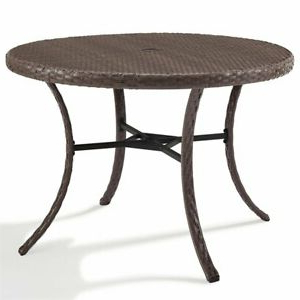 """Newest Darbonne 42'' Dining Tables Pertaining To Crosley Furniture Tribeca 42"""" Round Wicker Patio Dining (View 7 of 25)"""