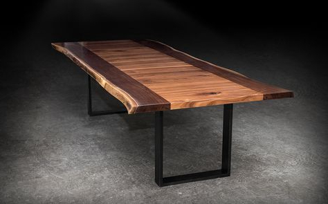 Newest Drake Maple Solid Wood Dining Tables Intended For Live Edge Tables With Solid Walnut, Maple & Oak Slabs (View 10 of 25)