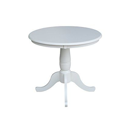 Newest Elderton 30'' Solid Wood Dining Tables For International Concepts 36 Inch Round30 Inch High Top (View 8 of 25)