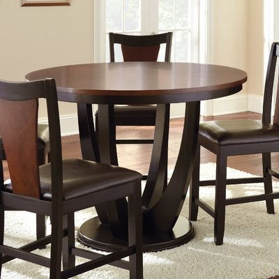 Newest Latitude Run Donovan Counter Height Dining Table Base In Liesel Bar Height Pedestal Dining Tables (View 6 of 25)