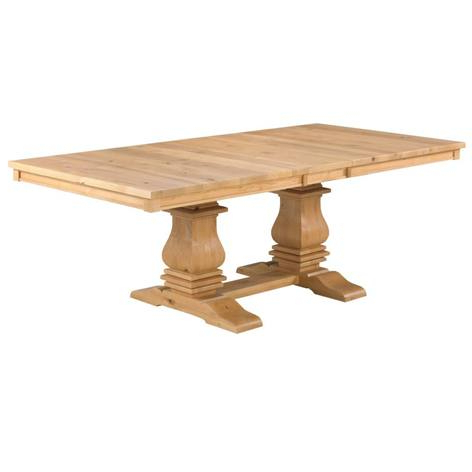 Newest Mediterranean Dining Table – Naked Furniture Regarding Gaspard Extendable Maple Solid Wood Pedestal Dining Tables (View 8 of 25)