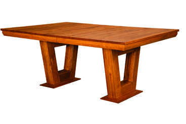 Newest Nerida Trestle Dining Tables In Empire Trestle Dining Table – Amish Furniture Factory (View 3 of 25)