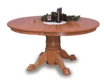 Newest Oval Claw Foot Amish Dining Room Table (View 10 of 25)