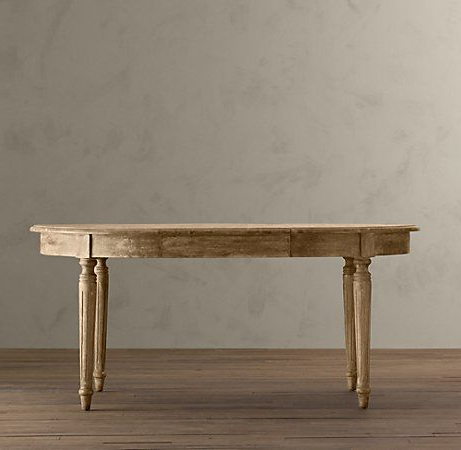 Newest Vintage French Fluted Leg Extension Dining Table Throughout Nazan 46'' Dining Tables (View 9 of 25)