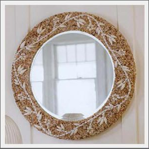 Ocean Home Decor, Seashell Mirror In Fashionable Edmondson Dining Tables (View 11 of 25)