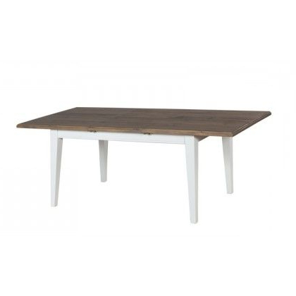 Ontario Reclaimed Pine Extension Dining Table With Metal Within Latest Clennell (View 4 of 25)