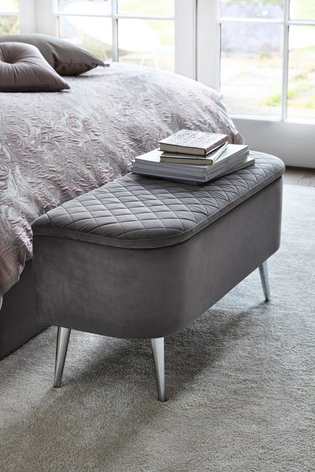 Opulent Velvet Silver Hamilton Ottoman Bench In 2020 With Regard To 2020 Lewin Dining Tables (View 18 of 25)