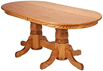 Pedestal Dining Tables Pertaining To Popular Amazon: Dooley's En7236dbd 3 Solid Oak Double Pedestal (View 19 of 25)