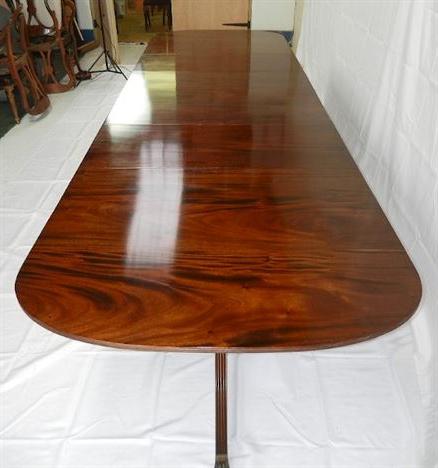 Pedestal Dining Tables With Regard To Favorite Antique Furniture Warehouse – Large Regency Pedestal (View 9 of 25)