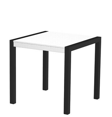"""Polywood 8000 12wh Mod 30"""" Dining Table In Textured Black Inside Most Recent Benji 35'' Dining Tables (View 23 of 25)"""