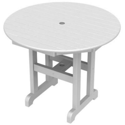 Polywood® Round Outdoor Dining Table 36 Inch Pw Rt236 Inside Well Known Montauk 36'' Dining Tables (View 6 of 25)