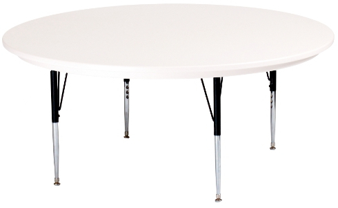 Popular 60 Round Adjustable Height Plastic Activity Table With Mode Square Breakroom Tables (View 20 of 25)