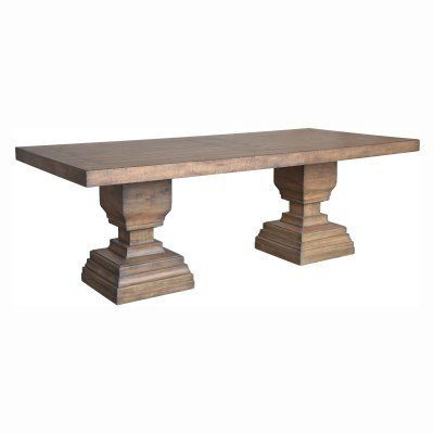 Popular A & B Home Brownville Double Pedestal Dining Table – 639 Inside Kohut 47'' Pedestal Dining Tables (View 23 of 25)