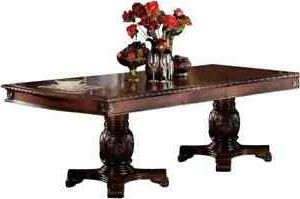 Popular Acme Chateau De Ville Dining Table With Double Pedestal In For Bineau 35'' Pedestal Dining Tables (View 7 of 25)