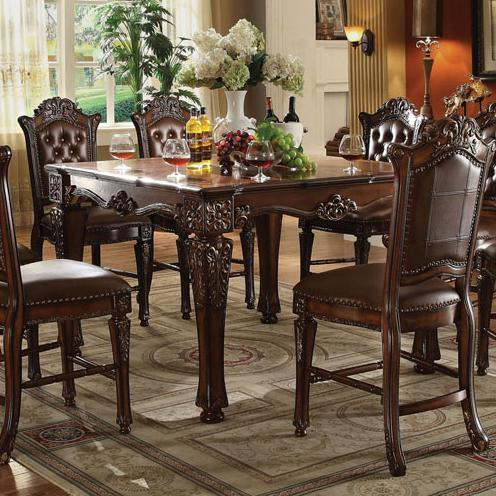 Popular Acme Furniture Vendome Counter Height Dining Table With Inside Mciver Counter Height Dining Tables (View 20 of 25)