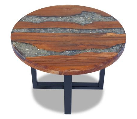Popular Crilly 23.6'' Dining Tables Within Coffee Table Teak Resin (View 2 of 25)
