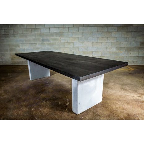 Popular Dining Table // Black Stained Ash Wood Concrete Legs Within Tylor Maple Solid Wood Dining Tables (View 14 of 25)