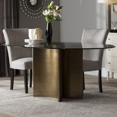 Popular Glass Oval Kitchen & Dining Tables You'll Love In 2019 With Regard To 49'' Dining Tables (View 7 of 25)